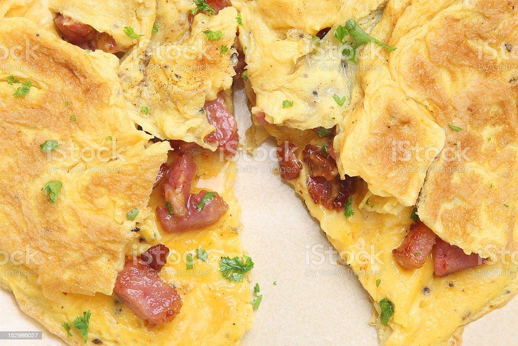 Pancetta Bacon Omelet stock photo