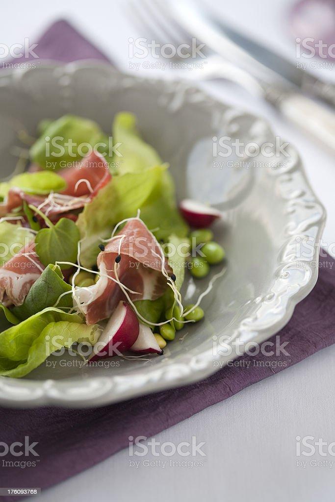 Pancetta Salad royalty-free stock photo