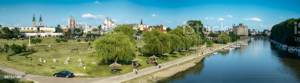 Pancevo, view from the river Tamis stock photo