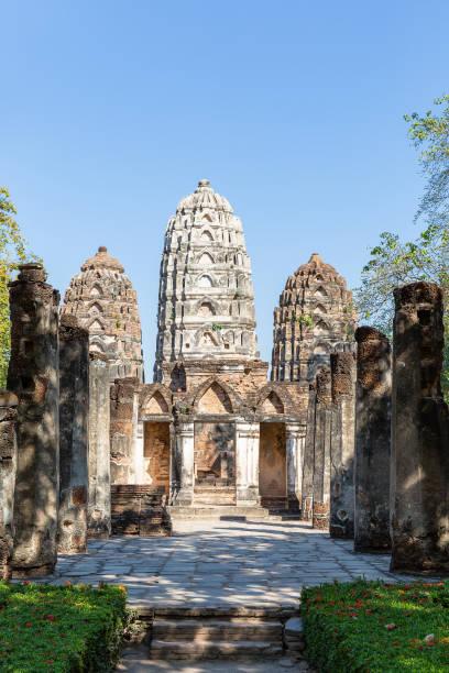 Pancharams des Wat Si Sawai im historischen Park von Sukhothai, Thailand, Asien – Foto