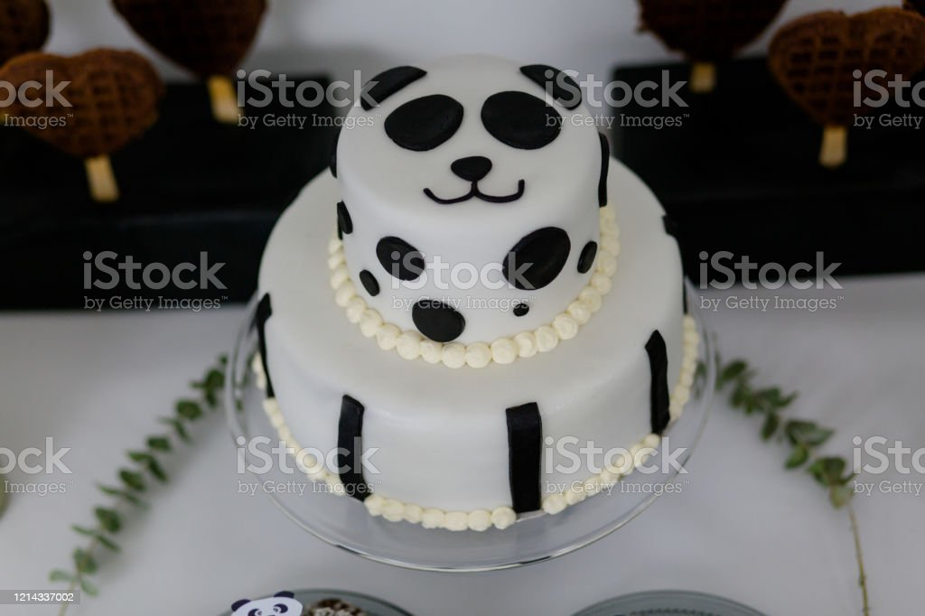 Remarkable Panda Cakes Stock Photo Download Image Now Istock Funny Birthday Cards Online Drosicarndamsfinfo