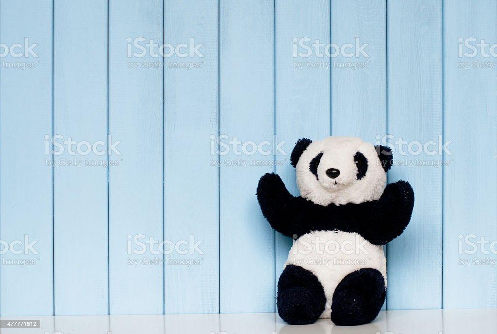 Panda soft toy stock photo