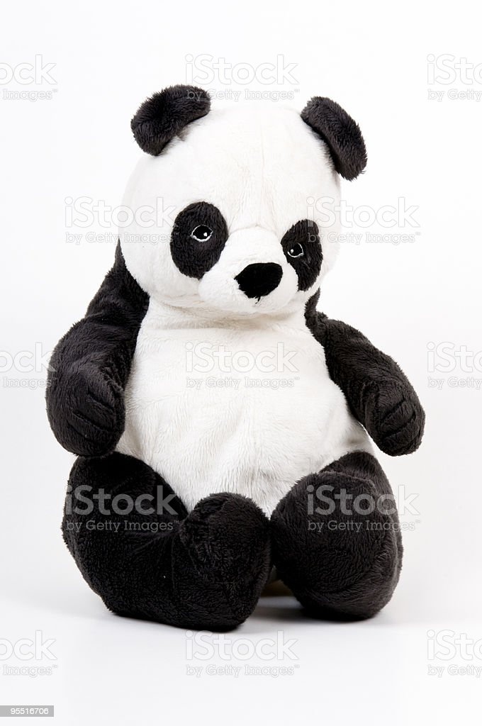 panda teddy bear stock photo
