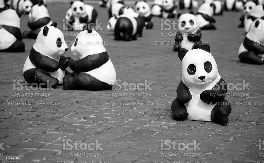 Pandas of the World Wildlife Fund stock photo