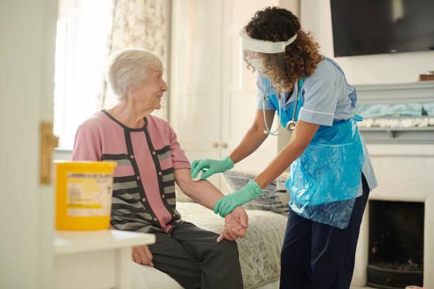 pandemic diabetic care stock photo