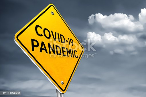 COVID 19 pandemic - roadsign message