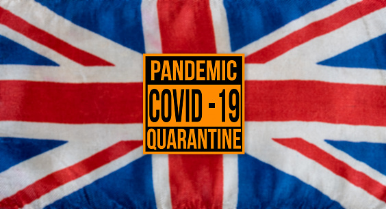 Pandemic Sign Warning Of Quarantine Due To Covid19 Or Corona Virus In The Uk Stock Photo - Download Image Now