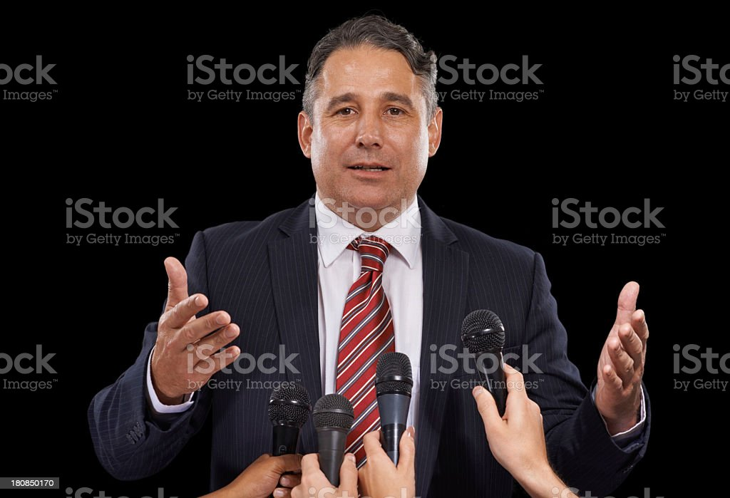 Pandering to the press royalty-free stock photo