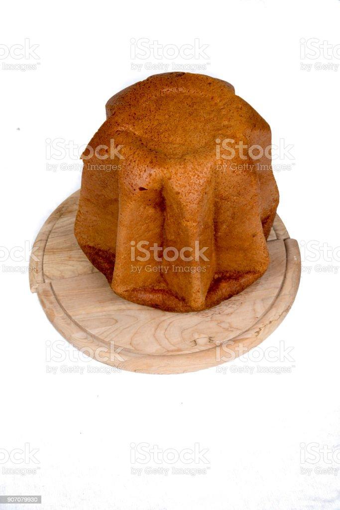Pandoro italian Christmas cake stock photo
