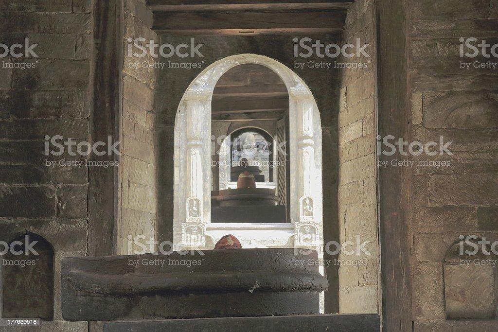 Pandra Shivalaya shrines-Pashupatinath temple-Deopatan-Kathmandu-Nepal. 0297 stock photo