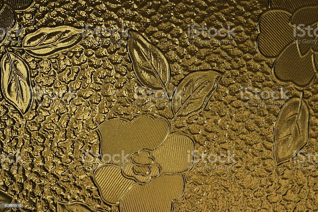 pane decorated with flower #2 royalty-free stock photo