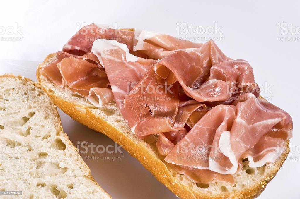 Pane e prosciutto royalty-free stock photo