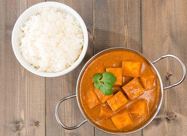 panir makhani - curry reis stock-fotos und bilder
