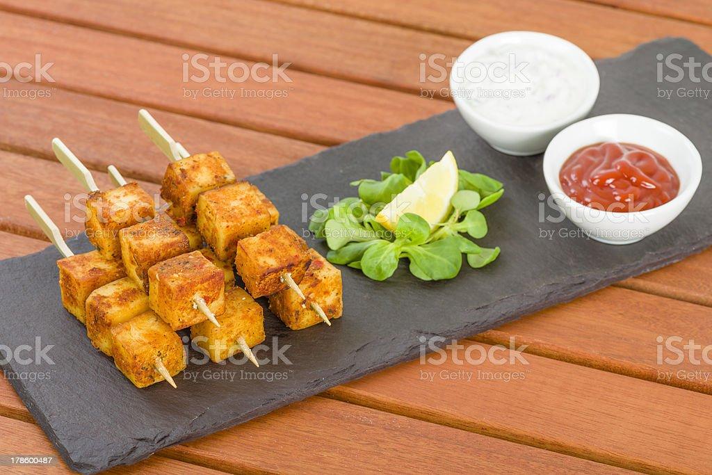 Paneer Tikka Kebab royalty-free stock photo