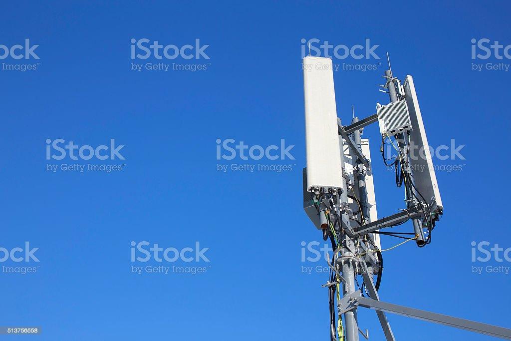 panel antenna mobile communication on background blue sky stock photo