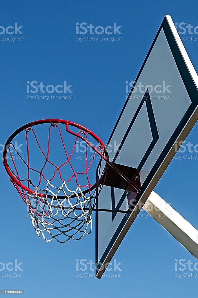 Panel basketball hoop royalty-free stock photo