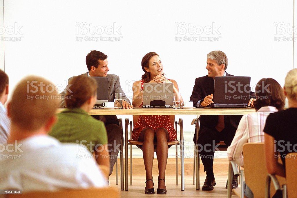 Painel de Discussão foto de stock royalty-free
