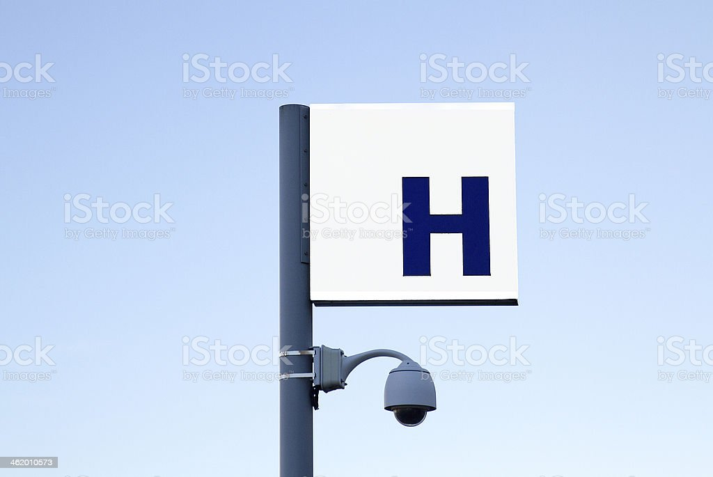 panneau, hôpital, blanc, France - Royalty-free Accidents and Disasters Stock Photo