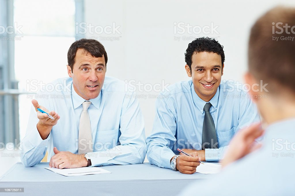 Panel interviewing an applicant for the job royalty-free stock photo