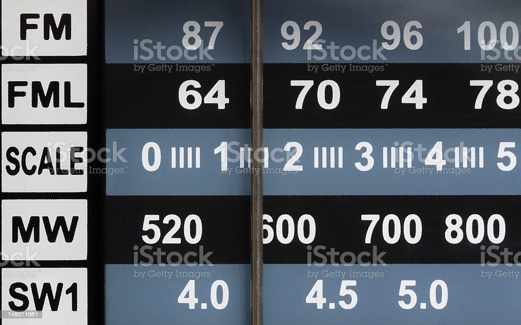 Panel of radio receiver stock photo
