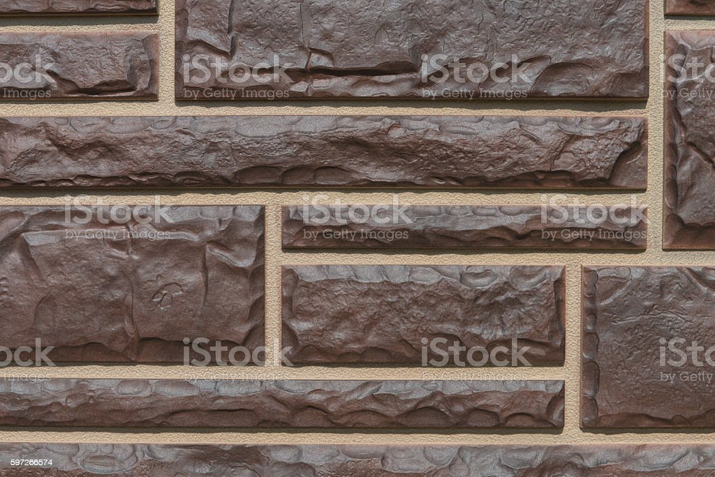 panel plastic imitation masonry royalty-free stock photo