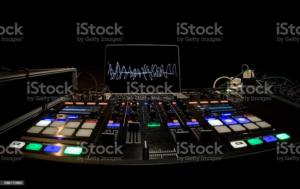 DJ Panel setup stock photo