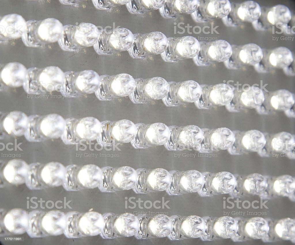 panel transparent, white LEDs royalty-free stock photo
