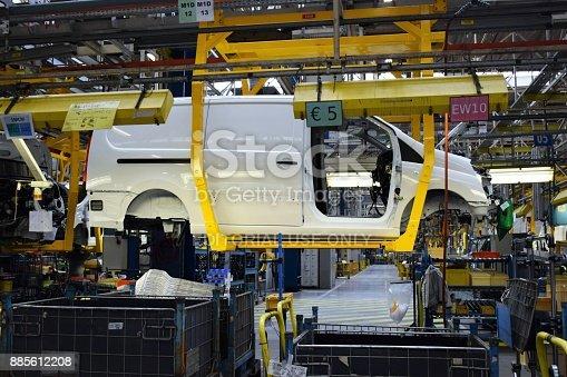 istock Panel van on the production line 885612208