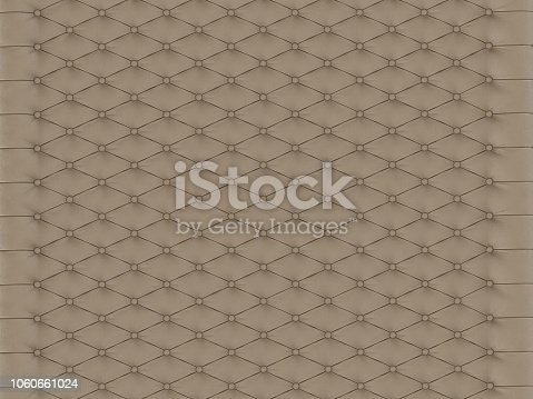 istock Panel wall beige capitone 1060661024