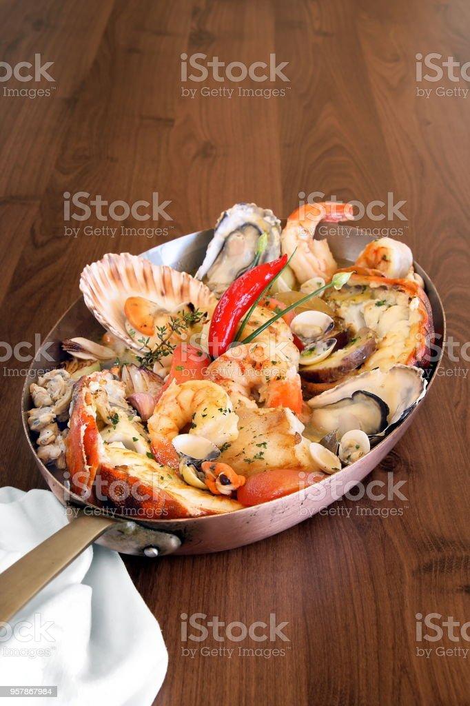 panelada de frutos do mar 3 stock photo