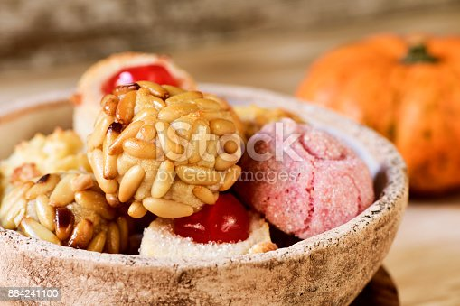 Panellets Typical Confection Of Catalonia Spain Stock Photo & More Pictures of Autumn