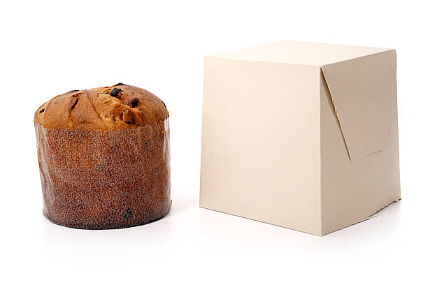 Panettone and its box stock photo