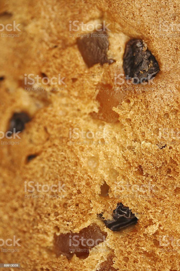 Panettone close-up (Texture foto stock royalty-free