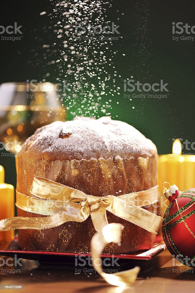 Panettone in christmas time royalty-free stock photo