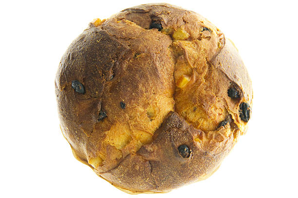 panettone milanese (natale torta italiana - panettone foto e immagini stock