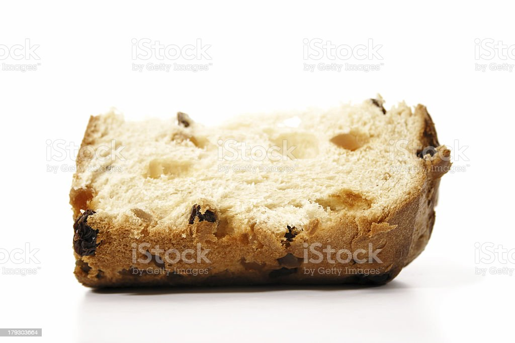 Panettone slice royalty-free stock photo