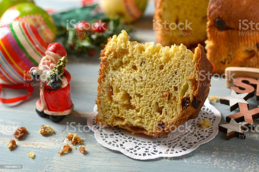 Italian Christmas Cake.Panettone Traditional Italian Christmas Cake Milanese