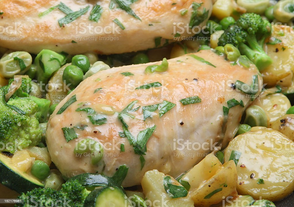 Pan-Fried Tarragon Chicken royalty-free stock photo