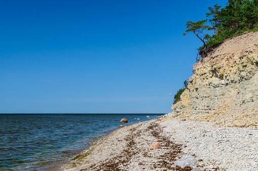 Panga cliff, highest bluff of Saarema island, Estonia
