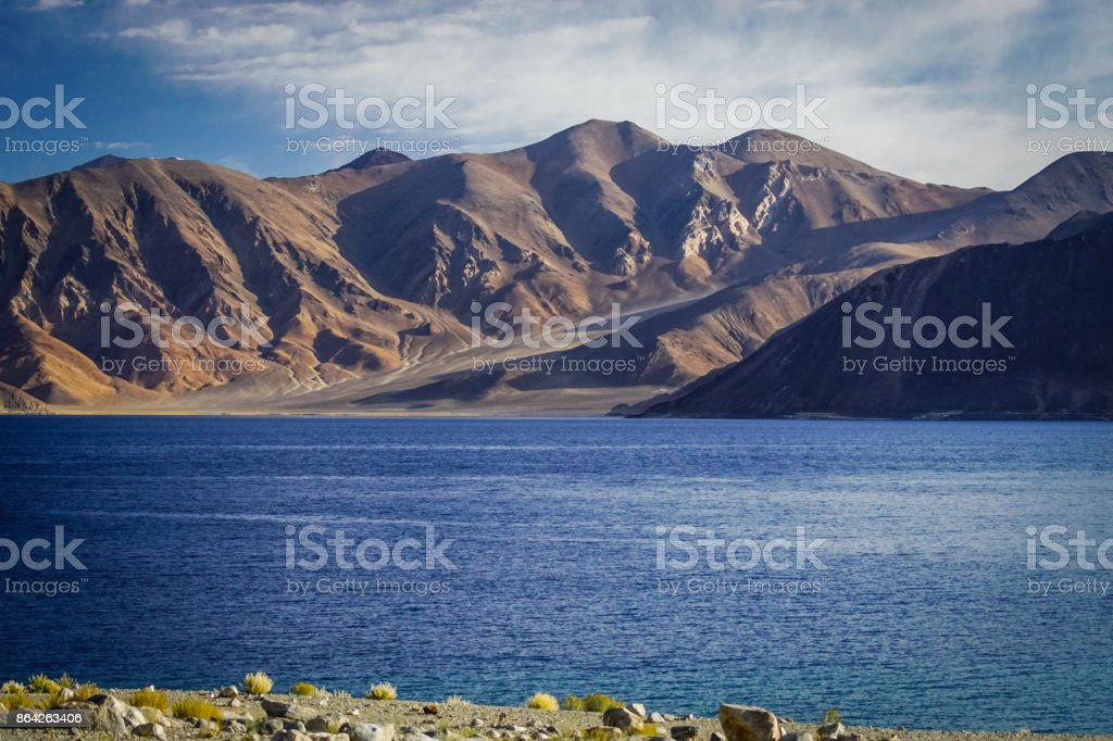 Pangong lake  leh ladakh india royalty-free stock photo