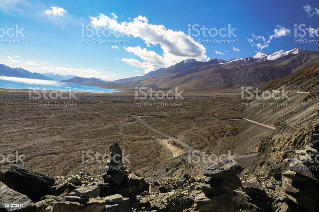 Pangong lake  leh ladakh india royalty-free stock photo