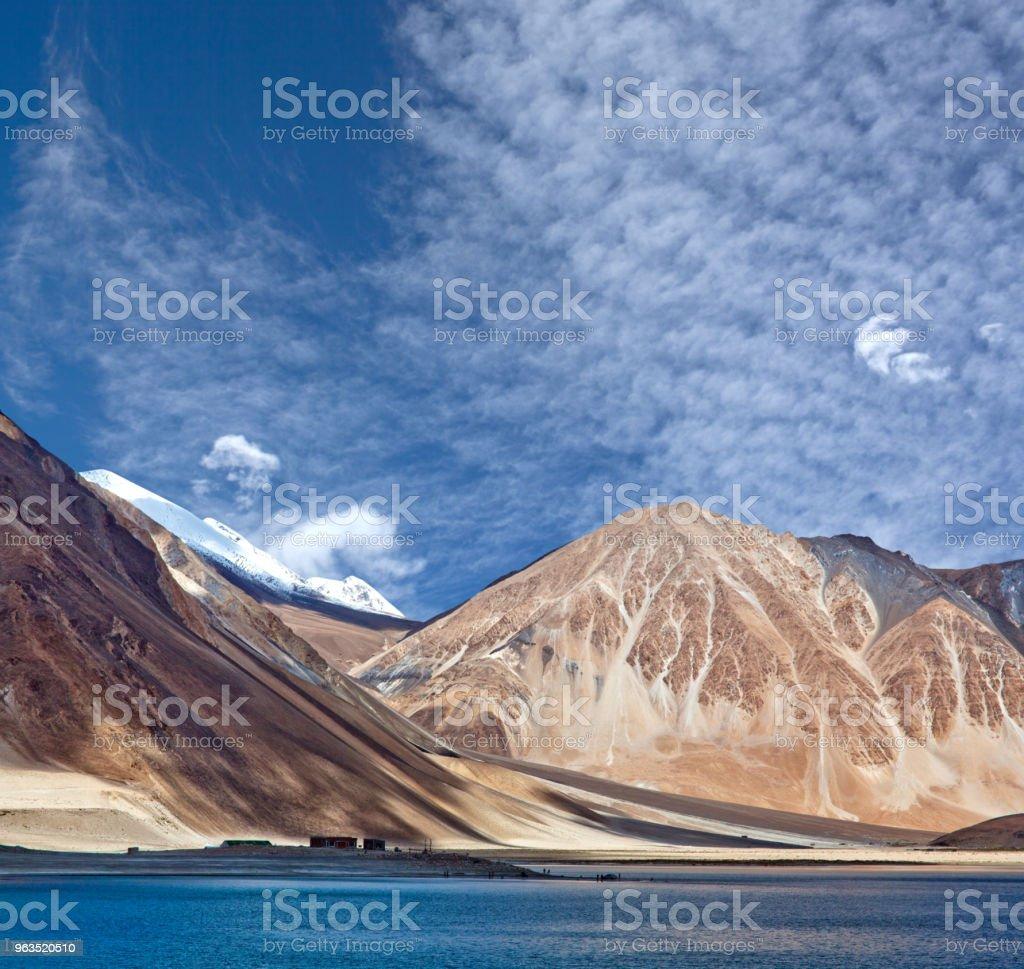 Pangong Tso Lake in Ladakh, India stock photo