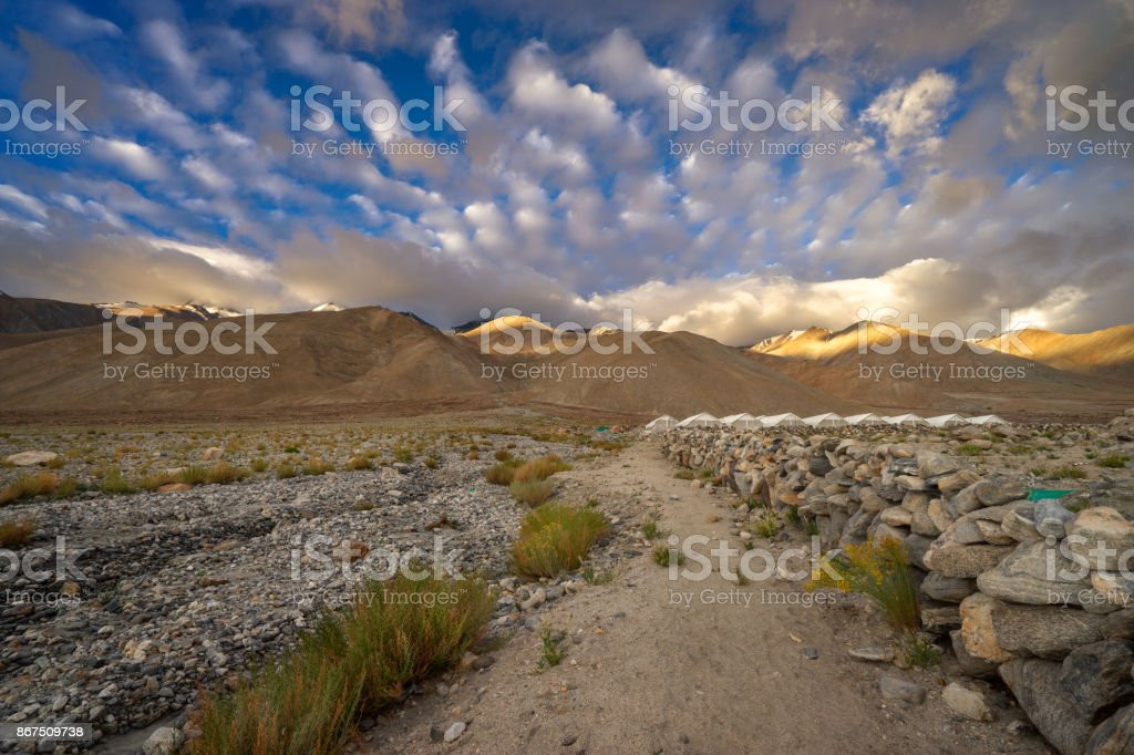 Pangong Tso Mountain stock photo