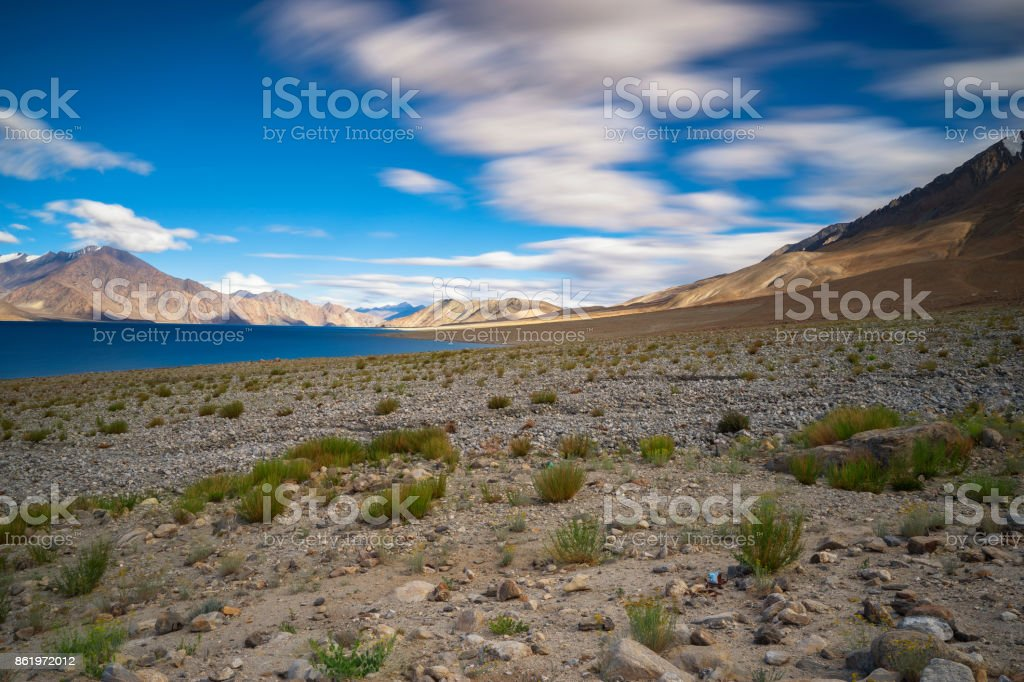 Pangong Tso stock photo