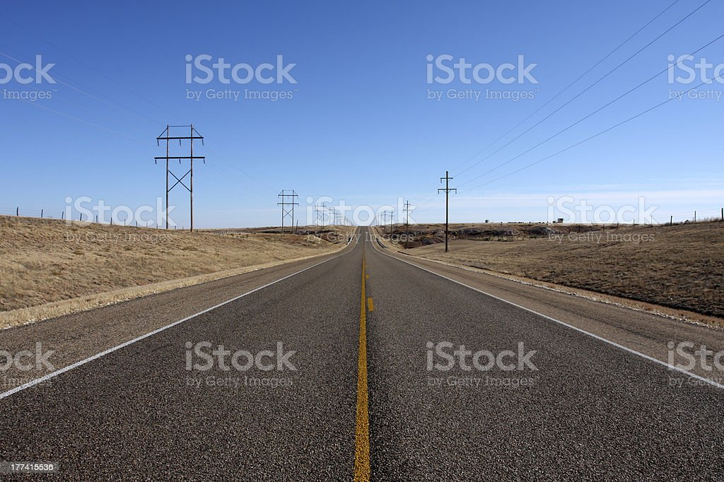 Panhandle Country Highway stock photo