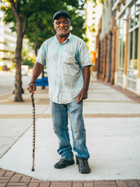 Panhandler on the Streets stock photo