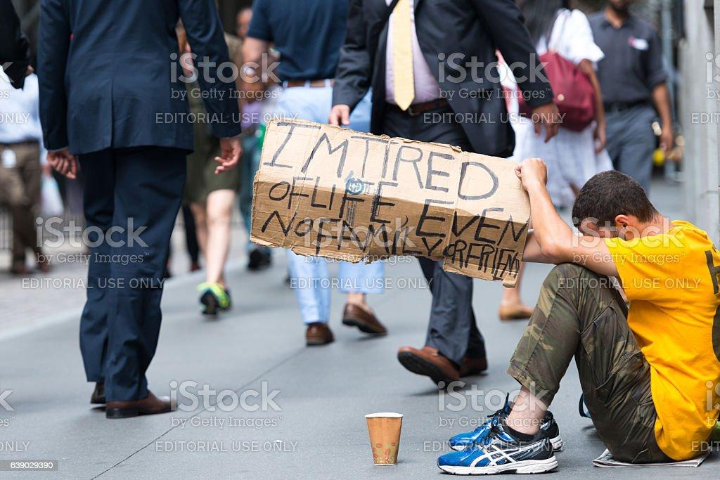 Panhandler stock photo