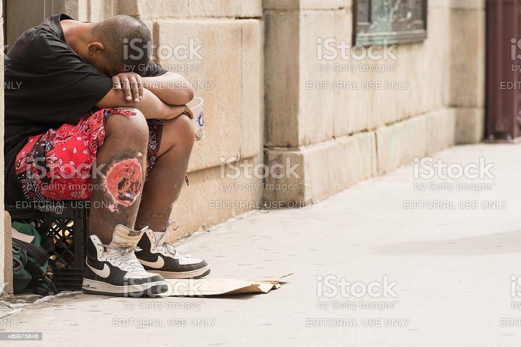 Panhandling stock photo