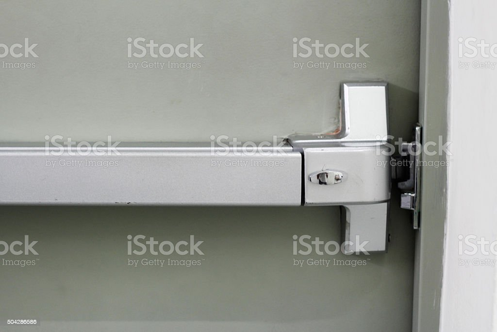 panic bar of door exit stock photo