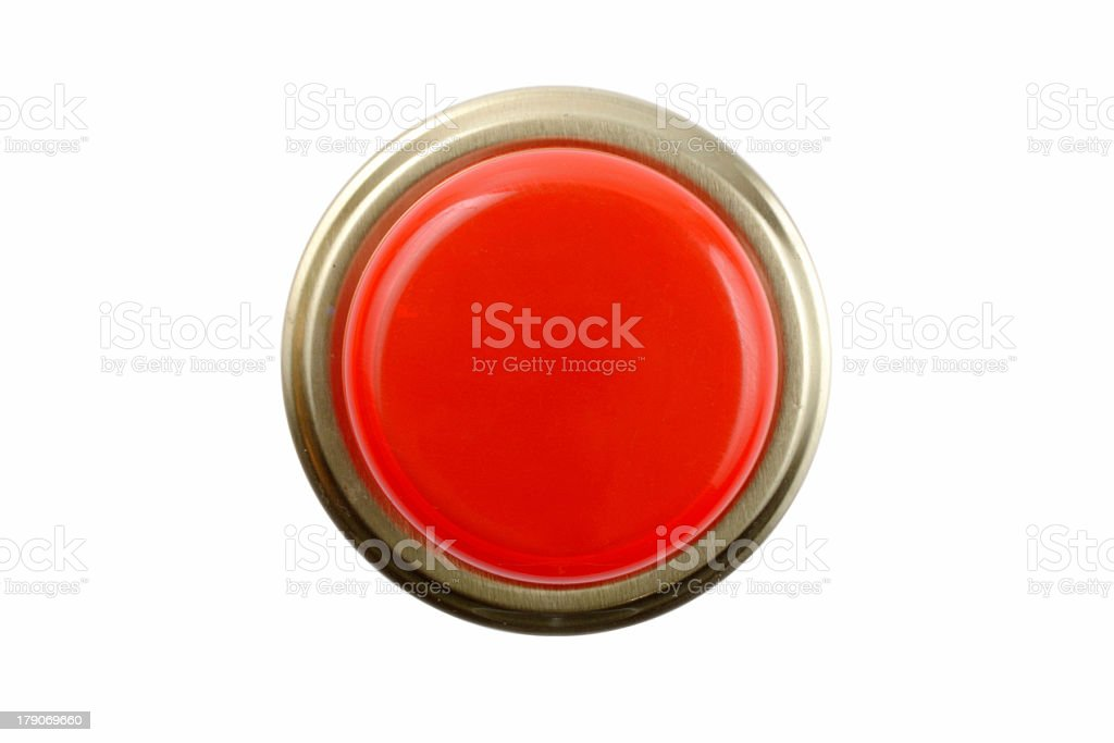 Panic button front view royalty-free stock photo